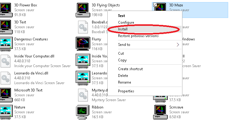 How to Add Classic Windows 98 Screen Saver to Windows 7/8/10
